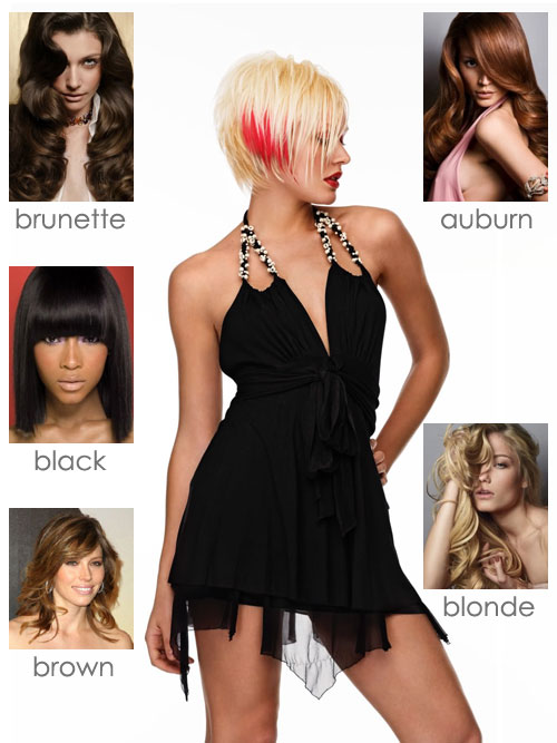 out the pictures below for some colorful hair color and style ideas
